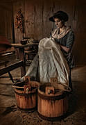 Period Clothing Metal Prints - By Hand Metal Print by Robin-Lee Vieira