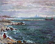 Toronto Painting Originals - By Lakeshore Mississauga by Ylli Haruni