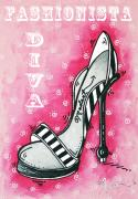High Heels Art Art - By Pink Design by MADART by Megan Duncanson