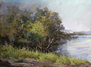 Springtime Pastels - By the Dam by Mary Ann Cherry