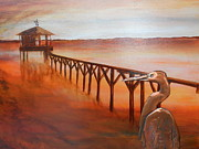 Weathervane Prints - By the Dock of the Bay Print by Judy McFee