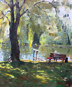Son Paintings - By The Lake  by Ylli Haruni