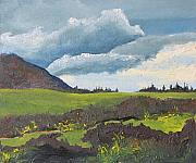 Francois Fournier Paintings - By The Mountain Mt-St-Joseph NDB Quebec Canada by Francois Fournier