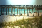 Panama City Beach Mixed Media Posters - By The Pier Poster by Deborah