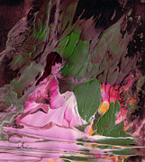 Monastery Mixed Media - By The River Piedra I Sat Down And Wept by Miki De Goodaboom