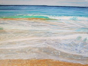 Framed Pastels Originals - By The Sea by Chris Van der Merwe