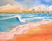 Piers Painting Framed Prints - By the Sea Framed Print by Rich Fotia