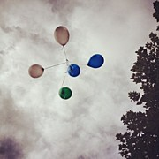 40th Photos - Bye #balloons #sky #clouds #tree #grey by Charlie Smith