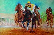 Racehorse Paintings - Bye Bye Boys by Leisa Temple