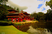 The Buddha Metal Prints - Byodo-In Temple 2 Metal Print by Cheryl Young