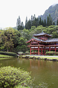 Asian Culture Prints - Byodo-In Temple, Kaneohe, HI, Oahu Print by Inti St. Clair