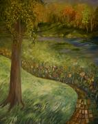 Pathway Paintings - Byron and Jennys Backyard by Joanne Smoley