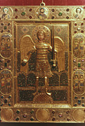 Byzantine Icon. Metal Prints - Byzantine Art: St. Michael Metal Print by Granger