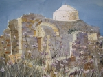 Byzantine Painting Posters - Byzantine Monastery Cyprus Poster by Martin Giesen