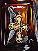 Byzantine Photo Acrylic Prints - Byzantine Tree of Life Cross 5 Acrylic Print by Sarah Loft
