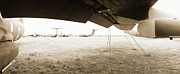 War Photo Originals - C-141 Starlifter Wing by Jan Faul