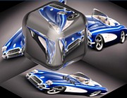C1 Photos - C1 Cube Blue Corvette  by Buddy Paul