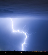 Lightning Weather Stock Images Posters - C2G Lightning Strike Poster by James Bo Insogna
