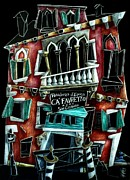 Venedig Drawings Prints - CA FavReTTo Print by Arte Venezia