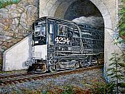 Tunnel Painting Prints - Cab Forward Print by Gary Symington