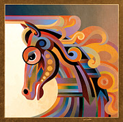 Stylized Paintings - Caballo by Bob Coonts