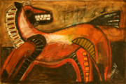 Mexican Horse Paintings - Caballo by Carlos Navarrete