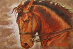 Animals Mixed Media Originals - Caballo I by Juan Jose Espinoza