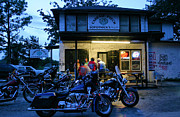 Kristin Elmquist Metal Prints - Cabbage Patch Bikers Bar Metal Print by Kristin Elmquist