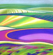 Crops Pastels - Cabbages and Corn by Barbara Craig