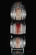 Wine Barrel Art - Cabernet by Donna Blackhall