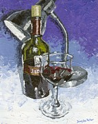 Wine Glass Paintings - Cabernet Sauvignon by Dumba Peter