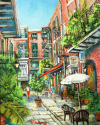 Pirates Painting Framed Prints - Cabildo Alley Framed Print by Dianne Parks