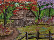 Cabin Originals - Cabin at Cherry Lane by Ray Ratzlaff