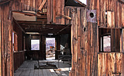 Historical Places Framed Prints - Cabin at Inyo Mine Framed Print by David Salter