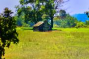 Log Cabin Digital Art Prints - Cabin at Valley Forge Print by Bill Cannon