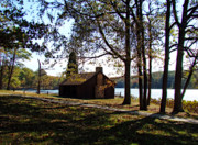 Orton Effect Prints - Cabin by the Lake Print by Sandy Keeton
