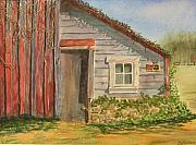 Building Painting Originals - Cabin Fever by Ally Benbrook