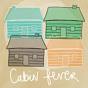 Fishing House Posters - Cabin Fever Poster by Linda Woods