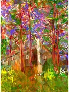 Log Cabin Art Painting Posters - Cabin Greenwood Ontario Poster by Richard D Mabb