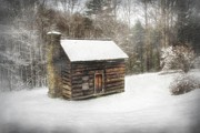 Christine Annas Acrylic Prints - Cabin in the Fog Acrylic Print by Christine Annas