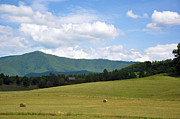 Tennessee Hay Bales Photo Prints - Cabin In The Smokies Print by Jan Amiss Photography