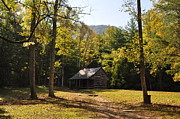 Log Cabin Photographs Photos - Cabin in the Smokies by Jeff Moose