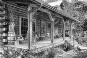 Porch Framed Prints - Cabin on the Hill Framed Print by Tom Mc Nemar