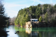 Captive Images Photography Posters - Cabin on the Lake Poster by John Kiss
