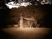Cabin Thru The Trees Print by Joyce L Smith
