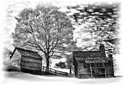 Cabin Wall Photos - Cabin Under Buttermilk Skies vignette by Dan Carmichael