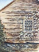 Cabin Window Paintings - Cabin Window by Todd A Blanchard