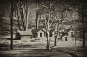 Log Cabin Prints - Cabins at Valley Forge Print by Bill Cannon
