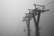 Cable Car Framed Prints - Cable Car In Mist Framed Print by Andy Qiang