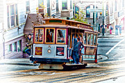 Sity Framed Prints - Cable Car Framed Print by James Menke